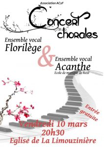 Concert Florilège et Acanthe @ Eglise de la Limouzinière
